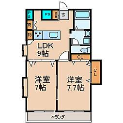 TRUSTY千代田[4階]の間取り