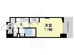 ラグゼ新大阪5 2階1Kの間取り