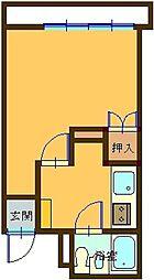 沖縄都市モノレール 儀保駅 12.3kmの賃貸マンション 3階1Kの間取り