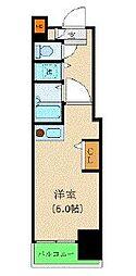 カスタリア新宿 3階ワンルームの間取り