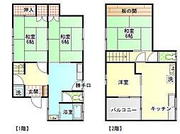 [一戸建] 静岡県富士市一色 の賃貸【/】の間取り