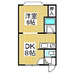 コーポ888[2階]の間取り