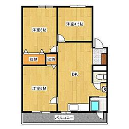 フローラ名東[305号室]の間取り