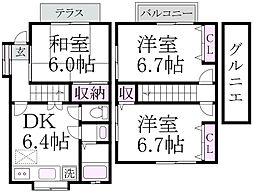 [テラスハウス] 東京都中野区大和町4丁目 の賃貸【/】の間取り