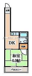 スペースマンション八戸ノ里[4階]の間取り