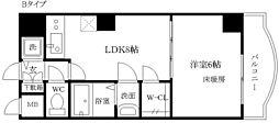 ノルデンタワー新大阪アネックス A棟 12階1LDKの間取り