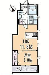 新築上里3丁目A様賃貸集合住宅 1階[101号室]の間取り