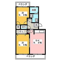 アンシャンテI[3階]の間取り