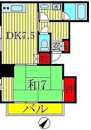 クレスマンション[301号室]の間取り
