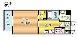 福岡県北九州市戸畑区浅生1の賃貸マンションの間取り