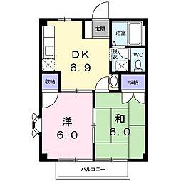 ウェアハウスB[0103号室]の間取り