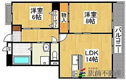 シャルネドマンション[4階]の間取り