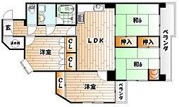 第10プリンスマンション[5階]の間取り