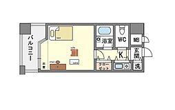 家具・家電付き PD高宮アーネスト[8階]の間取り