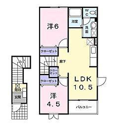プレイス赤坂II[2階]の間取り