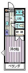 埼玉県さいたま市南区別所4丁目の賃貸アパートの間取り