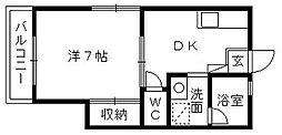 和田の家ポラリス[203号室]の間取り