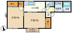 コートピュア司B 103[1階]の間取り