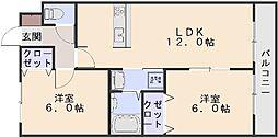 メゾンエレガンテ[2階]の間取り