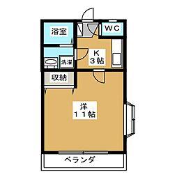ブルーハイツ3[1階]の間取り