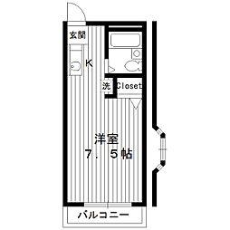 東京都練馬区栄町の賃貸アパートの間取り