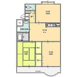 サンライズマンション 2号館[H-1号室]の間取り