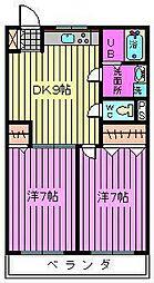第二横田ハイツ[2階]の間取り