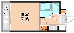 ピュアドームパレス博多[2階]の間取り