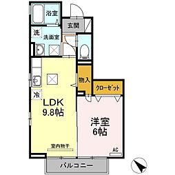 セジュールヒットワンA棟[1階]の間取り