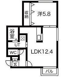 セントベル八軒[305号室]の間取り