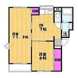 タカノマンションB[1階]の間取り