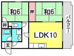 第2しづマンション[1階]の間取り