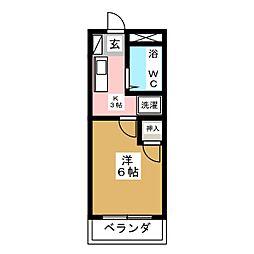 ハイツ三越[2階]の間取り