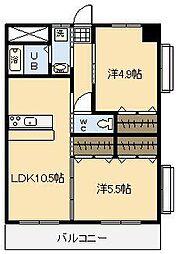 エステートSAKURA[3階]の間取り