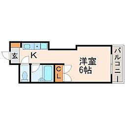 ソレイユ水堂[3階]の間取り