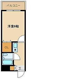 兵庫県尼崎市名神町2丁目の賃貸マンションの間取り