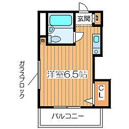 姫島ハイツ[101号室]の間取り