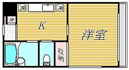東京都杉並区本天沼2丁目の賃貸マンションの間取り