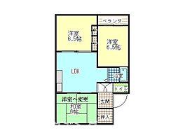 徳島県徳島市国府町和田字表の賃貸マンションの間取り