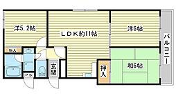 兵庫県姫路市土山6の賃貸マンションの間取り