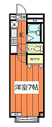 アンプルール フェール 上福岡II[1階]の間取り