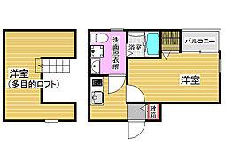 アウグーリ室見[1階]の間取り