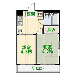 佐野宝マンション[2階]の間取り