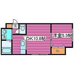 北海道札幌市東区北四十二条東15丁目の賃貸マンションの間取り