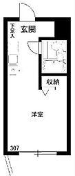 東京都板橋区東坂下1の賃貸マンションの間取り