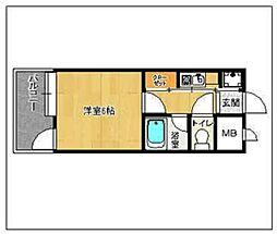 ピュアドーム大濠アクレーム[2階]の間取り