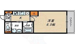 京阪本線 関目駅 徒歩5分の賃貸マンション 4階1Kの間取り