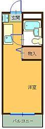 ハイツ東山B[203号室]の間取り