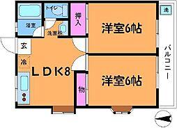 コンフォートII[2階]の間取り