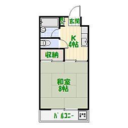 第五共和コーポ[3階]の間取り